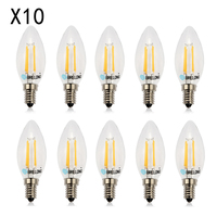 10pcs 4W E14 Screw Edison Retro GLS GOLF Filament Light Lamp Bulbs Warm white