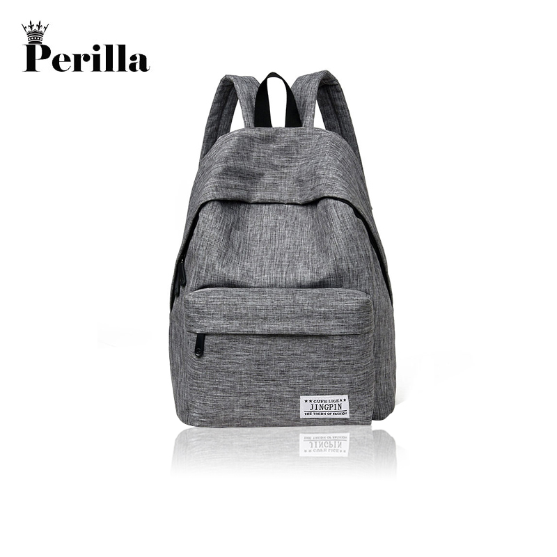 Perilla Brand Canvas Men Women Backpack College School Bags For Teenager Boy Girls Laptop Travel Backpacks Mochila Rucksacks стоимость