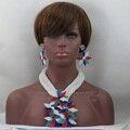 2016 de Moda Colorido Blanco Boda Nigeriano Beads Africanos Joyería Establece Sistemas de La Joyería Completa Perlas Joyería Nupcial India Establece ALJ911