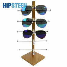 HIPSTEEN Practical Wooden Glasses Display Rack Sunglasses Storage Rack Support Show Stand