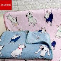 Очень мягкое качественное Флисовое одеяло с рисунком Бультерьера, два размера