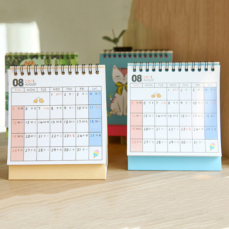 2019 Cute Unicorn Flamingo Pig Laser Mini Table Desktop Calendar Agenda Organizer Daily Schedule Planner 2018.10~2019.12 Do You Want To Buy Some Chinese Native Produce? Office & School Supplies