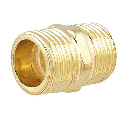 Gold Tone Threaded Piping Fitting Straight Connector 39pcs m3x6mm machine boards hexagonal threaded spacer gold tone