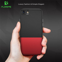 FLOVEME Hard Stitching Hit Color Case For IPhone 7 7 Plus 6 6s Plus Cover Fashion