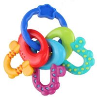 2016 Baby Teethers 100 Food Grade Silicone Key Shape Baby Toys Dental Care Toothbrush Training Silicone