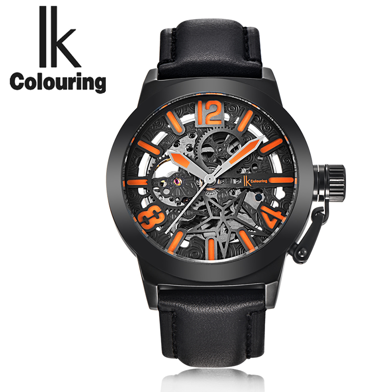 ФОТО The new IK art RETRO military men automatic mechanical watches watches hollow belt leisure