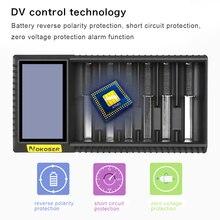 D6U-0.5W NOKOSER 6 LCD Ranura Rápida Digital Li-ion/LiFePO4 Cargador de Batería Recargable de Ni-MH/Ni-cd AAA/SC 26650/18650 Baterías