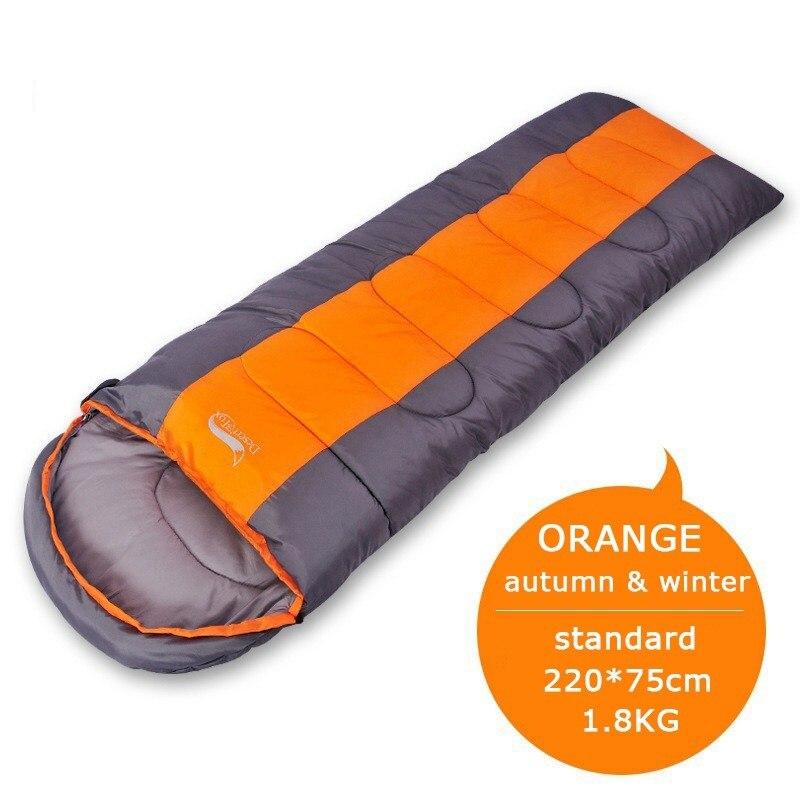 Standard 1.8KG orange-Camping Lightweight 4 Season Warm Cold Envelope Backpacking Sleeping Bag