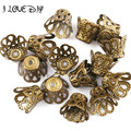 Wholesale 200pcs 300pcs Gold Wine Class Flower Metal Bead Caps Silver Jewelry Accesories 6mm 9mm for Jewelry Making