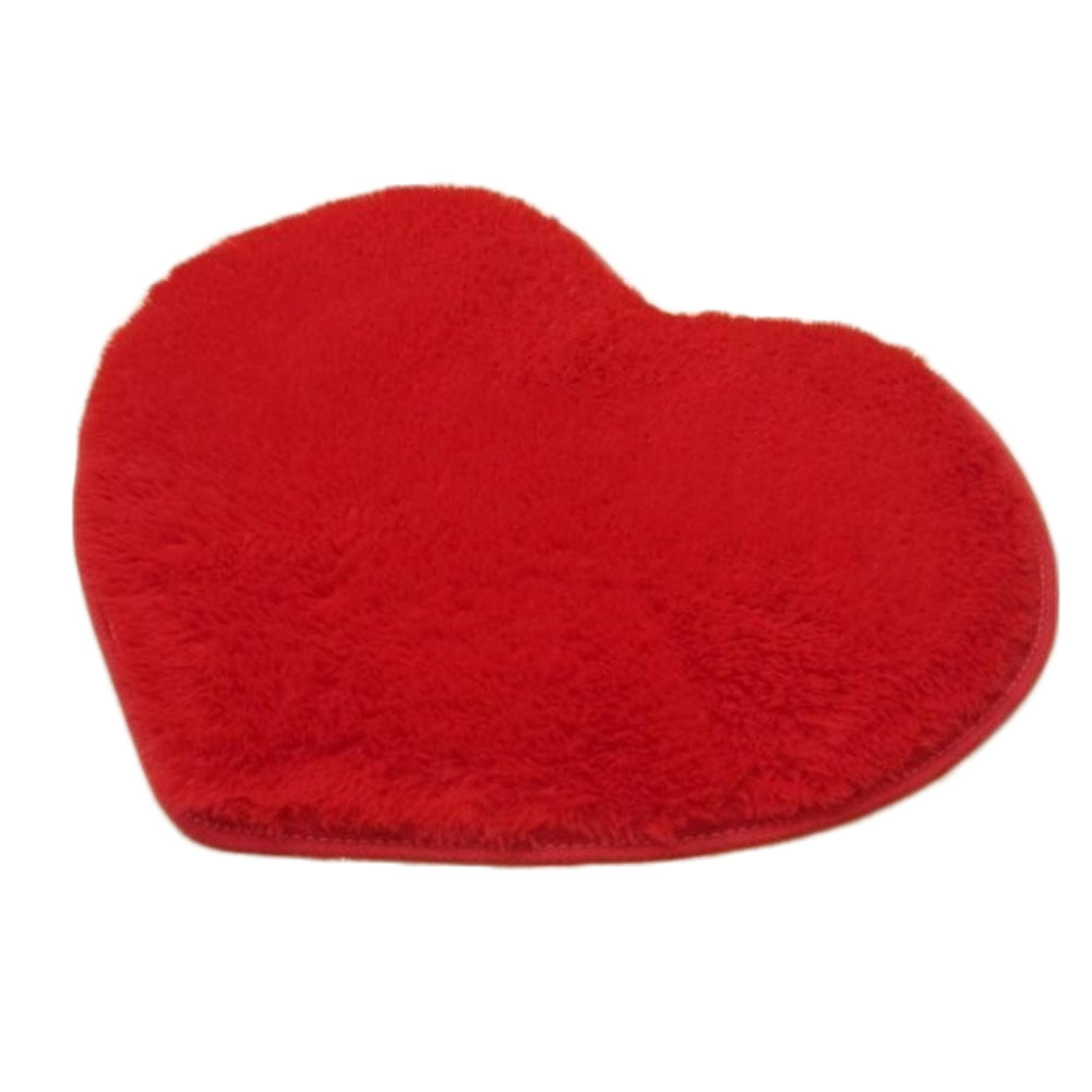 Short Plush Heart Shape Cushion Mat Kids Sit Carpets Soft Area Rug Non-slip Floor Door Mat Home Decoration Supplies