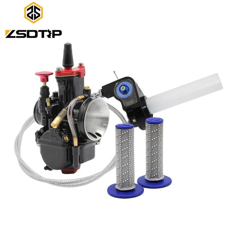 ZSDTRP S classe noir 28 30 32 34 MM mikuni Tuning Power Jet pompe d'accélération carburateur + Twister Visiable + câble + couleurs poignées