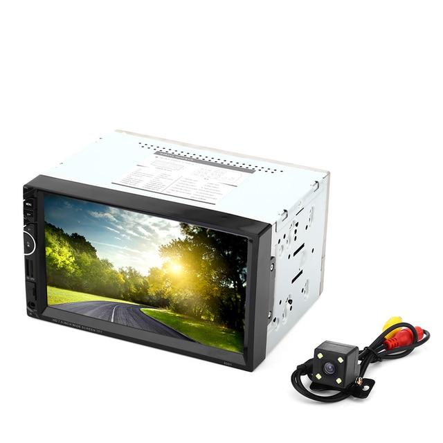 8001 Универсальный 2Din RDS GPS Навигации Автомобиля Радио Видео Стерео Плеер 7 Дюймов FM USB AUX Bluetooth Пульт Дистанционного Управления Камеры Заднего вида