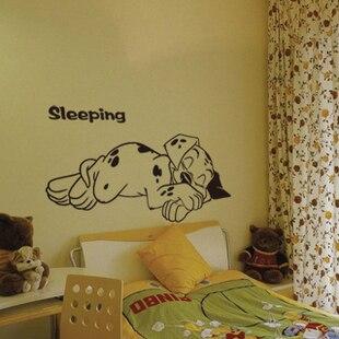 Us 942 30 Offgratis Shiping Animasi Kartun Lucu Dalmatians Wall Stiker Di Dalam Kamar Tidur Anak Anak Kamar Stiker Dinding Samping Tempat Tidur In
