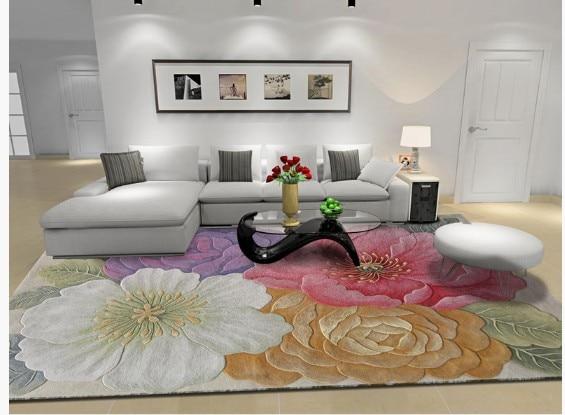 Ковер для гостиной шерстяные ковры большой размер моющийся коврик ковры для гостиной спальня Цветочные ковры роскошные высокого качества ...