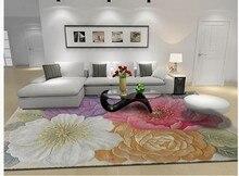 Ковер для гостиной шерстяные ковры большой размер моющийся коврик ковры для гостиной спальня Цветочные ковры роскошные высокого качества ковры