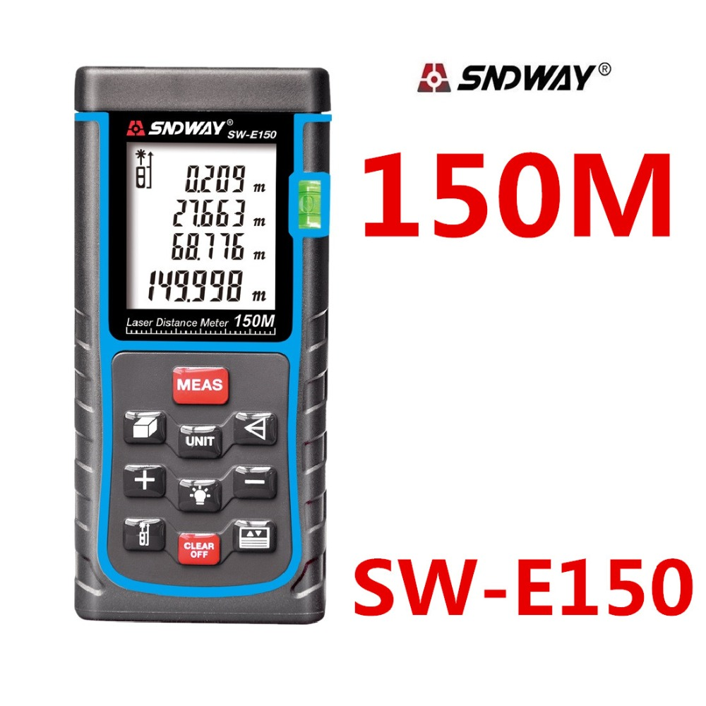 SNDWAY 150m 120m Digital Laser distance meter Rangefinder Tape measure Disitance/Area/volume M/Ft/in Range finder Ruler Roulette