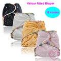 5 PCS Fileiras Duplas Encaixar de Alta qualidade Natural de Bambu Veludo Um tamanho serve a todos Fralda Equipado com Um saco de Fraldas Com 2 De Bambu inserções