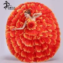 360/540/720 Sleeveless Adults Spanish Dancer Flamenco Dancing Ladies Fancy Dress Costume Sizes S-3XL spanish dance costumes lady
