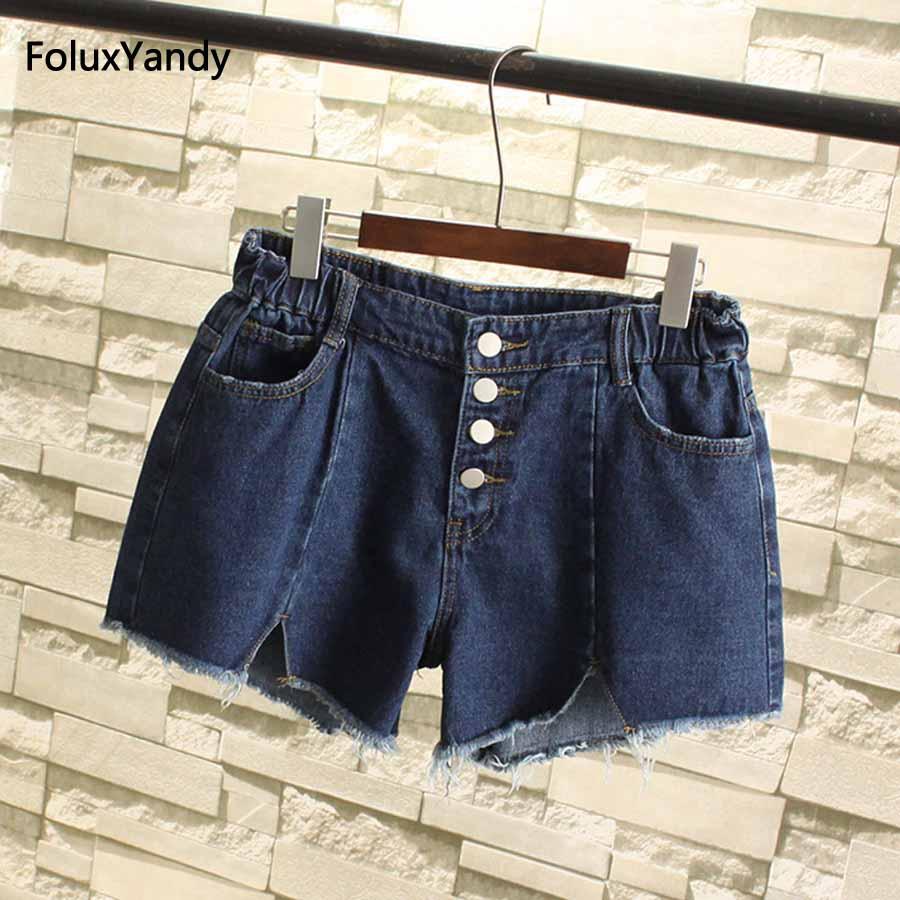 Women Jeans Shorts Plus Size 3 4 5 XL Casual Button Fly Loose Wide Leg Denim Shorts Blue SWM37 химия в строительстве учебник
