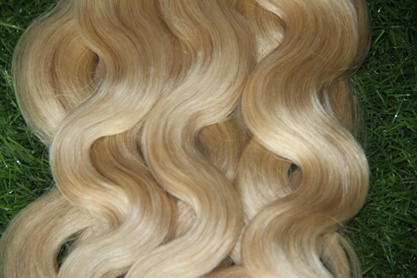 613 Blonde Cheap Keratin Fusion Hair Extensions Nail Hair Extensions