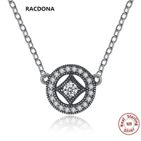 Luxury Classic Authentic 925 Sterling Silver Vintage Dazzling Charm With AAA Zircon Pendants Necklaces For Women