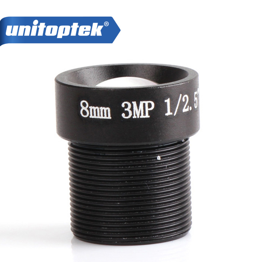 8mm 1/2.5 3.0 Mega Pixels Fixed Lens 38.5 Degrees M12 F2.0 For HD IP / HDCVI / AHD CCTV Security Camera wholesale cctv lens 12mm 26 2 degrees 1 2 5 3mp f1 4 fixed cs mount mega lens 1080p hd cctv lens for cctv camera