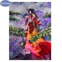 New arrival,diamond Embroidery bead,japanese,woman Diamond Painting full Square Mosaic Cross Stitch lady Picture Of Rhinestones