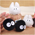 20 pieces/lot Totoro series toys white and black plush toy doll schoolbag Small Pendant bag backpack ornaments Mini size 8-10 cm