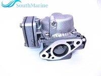 Assy carburador para hangkai motores de popa de 2 tempos 5hp 6hp|Motor do barco|Automóveis e motos -