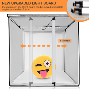 Image 2 - Travor caja de luz para estudio fotográfico regulable, 80x80cm, 31,5 pulgadas, adaptador de CA, fondos para cámara de teléfono, DSLR, joyería, juguetes de zapato