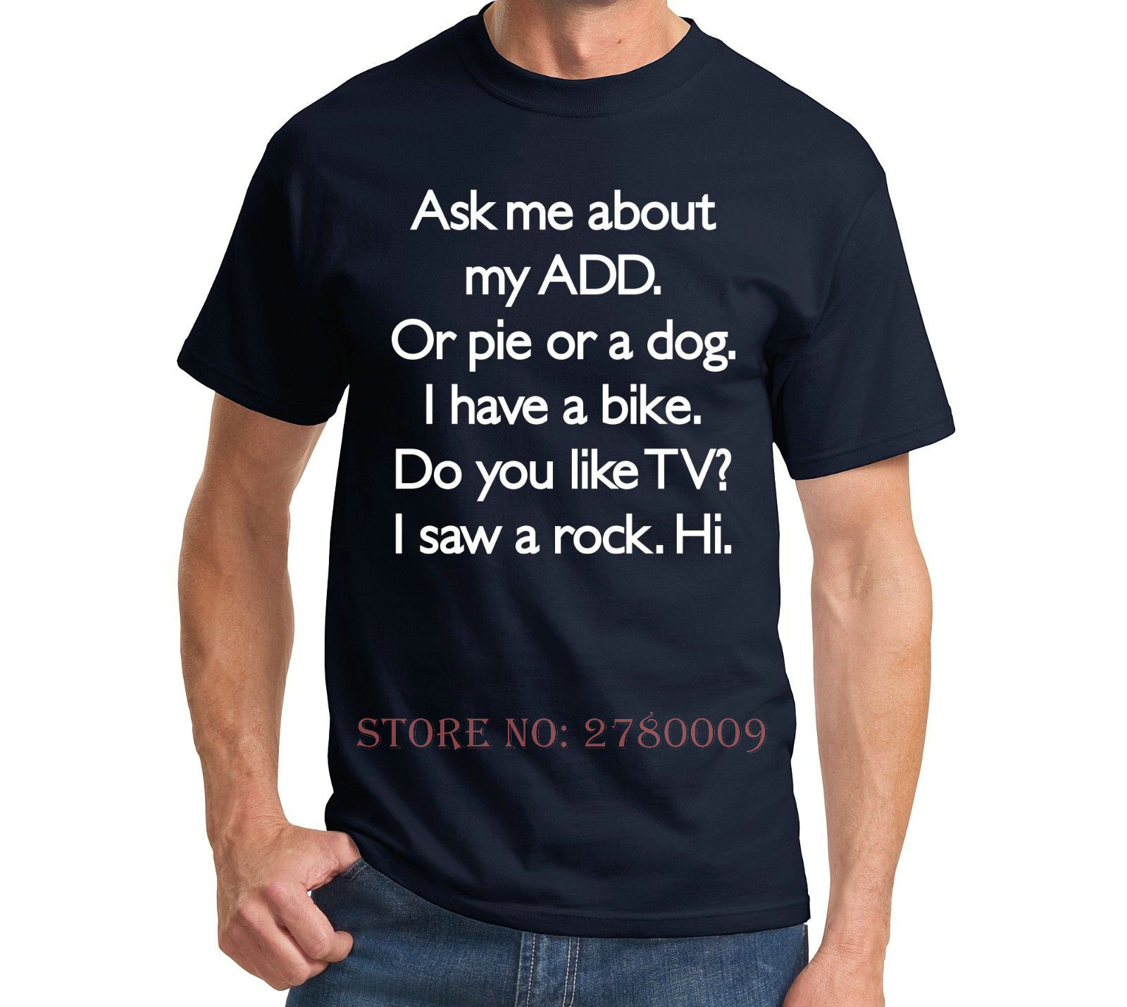 Ask Me About My ADD Or Dog Funny T Shirt ADHD Cute Holiday Gift ...