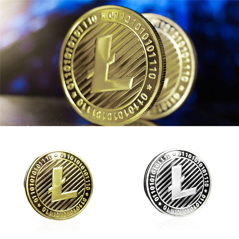 New Types BTC Dash Litecoin Ethereum Coins Currency Collection Physical Gift Collection Art Antique Home Holiday Deco Imitation