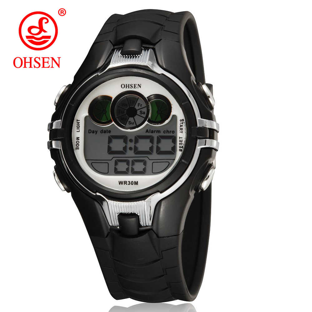 Watches For Kids LED Sport Style Children's Digital Electronic Watch Boys Girls Children Cartoon 30M Waterproof Watch OHSEN 2019