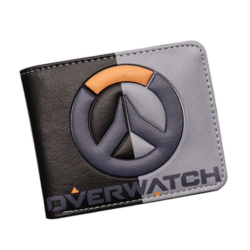 Anime Game Wallet Overwatch Wallets Heroes Design Purese With Fashion Short Wallets coin short Purse japanese anime poke death note attack on titan one piece game ow short wallet with coin pocket zipper poucht billetera