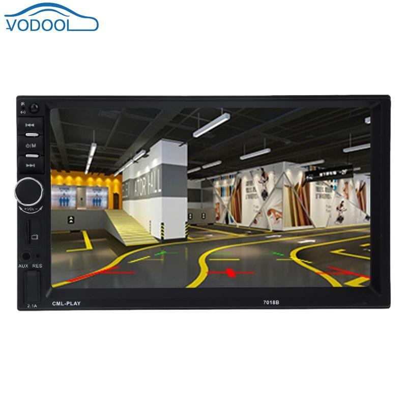 VODOOL 7 inch 12V 1080P Digital MP5 MP3 Player Bluetooth Autoradio 2din LCD Touch Screen Car Backup Monitor Vehicle Electronics image