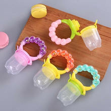 Safety Silicone Infant Nipple Baby Food Chew Pacifier Soothers Silica Gel Fruits Vegetables Toothbrush Nipple Feeding Pacifier-in Pacifier