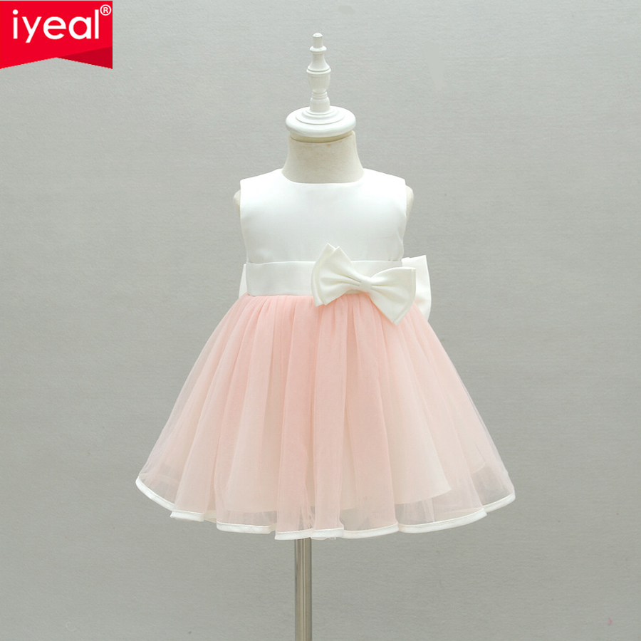 IYEAL Baby Girl Dress 2018 New Princess Infant Party Dresses for Girls Summer Kids Dress Baby Clothing Toddler Girl Clothes 0-2Y spring autumn cute baby kids girls party dress kids clothes cotton toddler girl clothing long sleeve baby girl princess dress