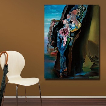 Wxkoil Salvador Dali Gravida (1931) Canvas Wall Pictures for Living Room Office Bedroom Modern Canvas Oil Painting Unframed 1