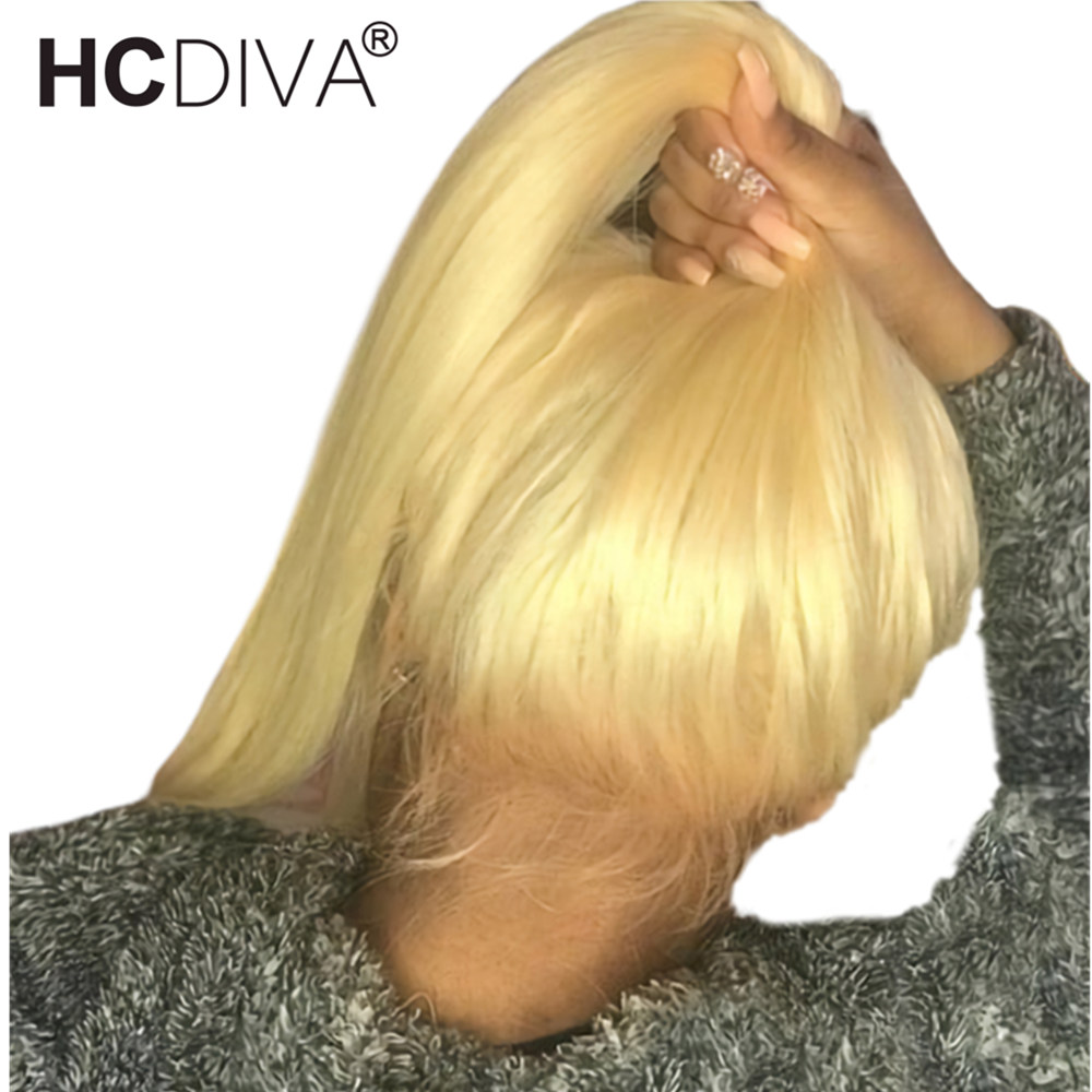 Honey Blonde Lace Front Human Hair Wigs Transparent 613 Lace Frontal Wig For Black Woman Peruvian