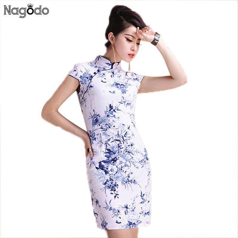 Elegant Cheongsam Dress Women S To 5xl 2016 Chinese Short