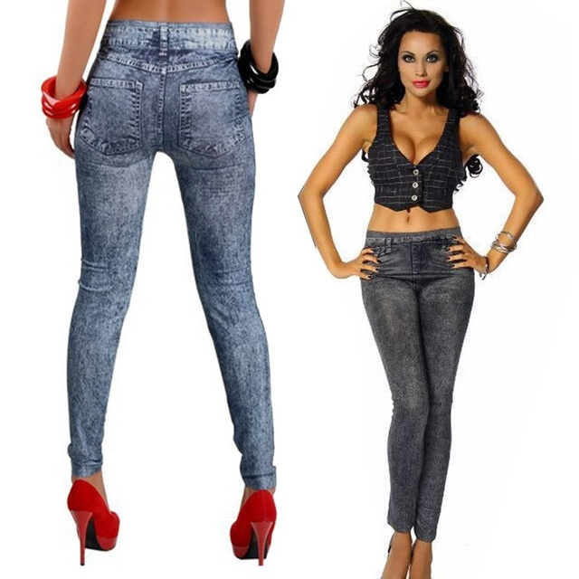 Ready-Faded Skinny Jeans Leggings