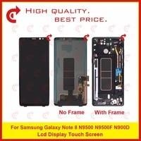 Оригинал 6,3 для samsung Galaxy Note 8 N9500 N9500F N900D N900DS ЖК дисплей с сенсорным экраном дигитайзер сборка полная Рамка