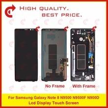 """ORIGINAL 6,3 """"Für Samsung Galaxy Note 8 N9500 N9500F N900D N900DS Lcd Display Touchscreen Digitizer Montage Komplette Rahmen"""