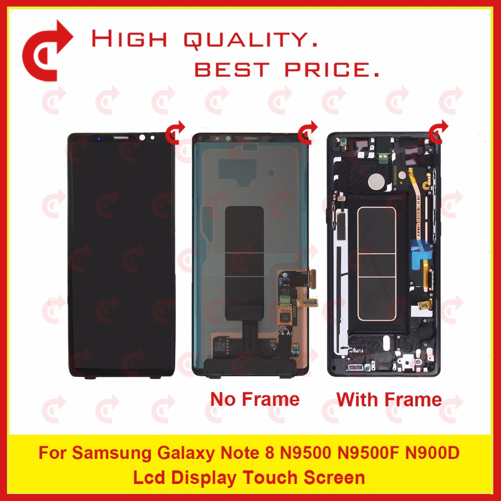 "ORIGINAL 6.3"" For Samsung Galaxy Note 8 N9500 N9500F N900D N900DS Lcd Display Touch Screen Digitizer Assembly Complete Frame-in Mobile Phone LCD Screens from Cellphones & Telecommunications"