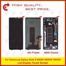 """ORIGINAL 6.3"""" For Samsung Galaxy Note 8 N9500 N9500F N900D N900DS Lcd Display Touch Screen Digitizer Assembly Complete Frame"""