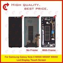 """Oryginalny 6.3 """"dla Samsung Galaxy Note 8 N9500 N9500F N900D N900DS wyświetlacz Lcd ekran dotykowy Digitizer zgromadzenie kompletna rama"""