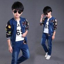 Горячая розничная ins дети новая осень набор одежды брюки и куртка мальчиков одежда набор 12 лет