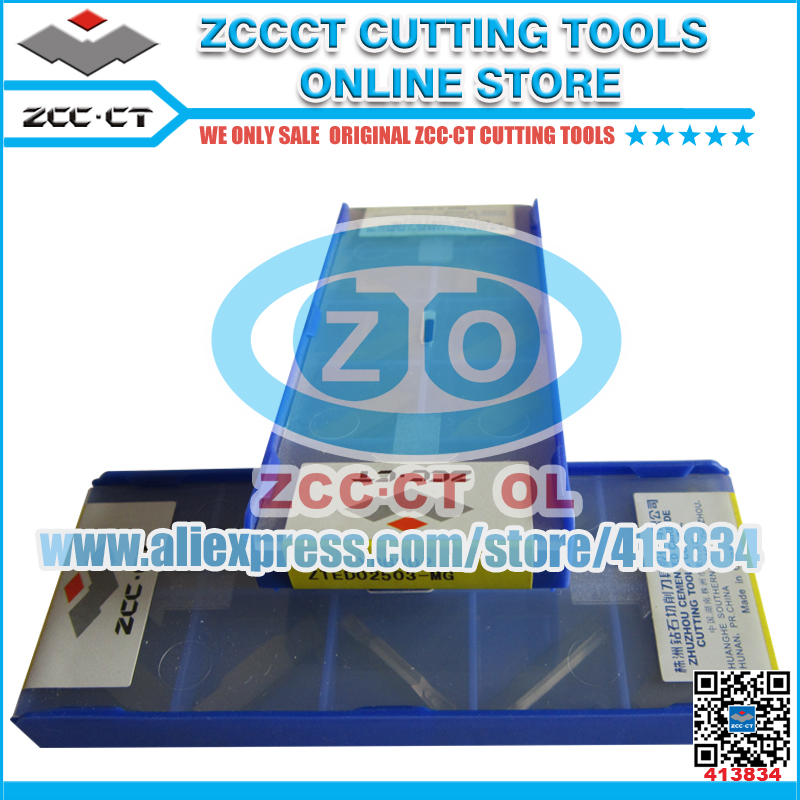 10pcs ZCC inserts ZTED02503 MG YBG302 2 5mm parting and grooving lathe cutter