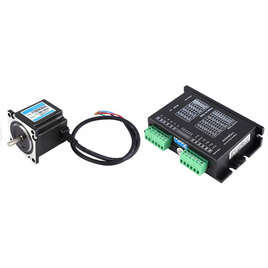 56 Stepper Motor,2 Phase Stepper Motor with Driver,24V//3A 1500rpm 1NM Industrial Control Stepping Motor,Widely Used in Various Types of Industrial Automation Control Equipment
