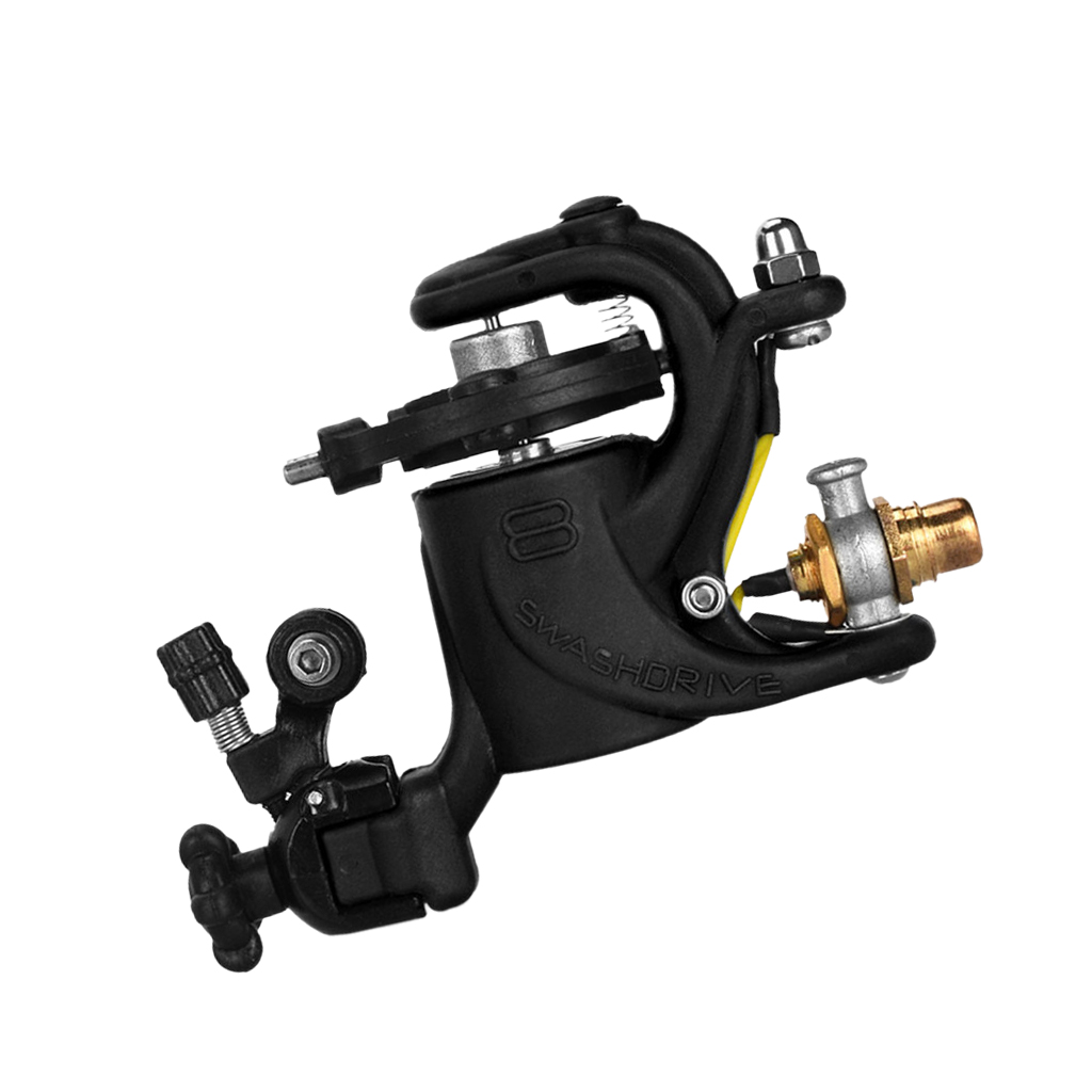 2-in-1 Professional Rotary Tattoo Machine with Precision DC Motor Supply for Liner and Shader, Complete Tattoo Machine Kit